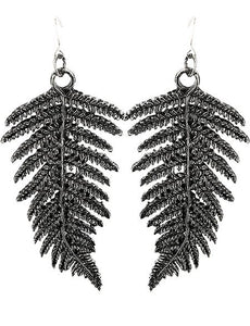 Fern Silver Earrings by Restyle