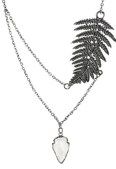 Fern Silver Necklace by Restyle