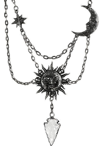 Moon & Sun Silver Necklace by Restyle