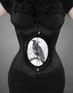 Dark Raven Cameo Underbust Corset by Restyle