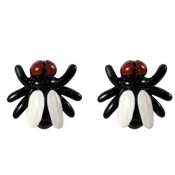 Fly Black Stud Earrings by Kreepsville 666
