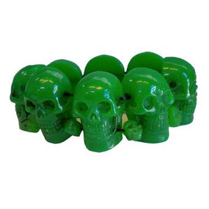 Green Skull Collection Bracelet by Kreepsville 666