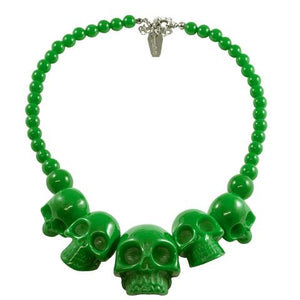 Skull Collection Green Necklace by Kreepsville 666
