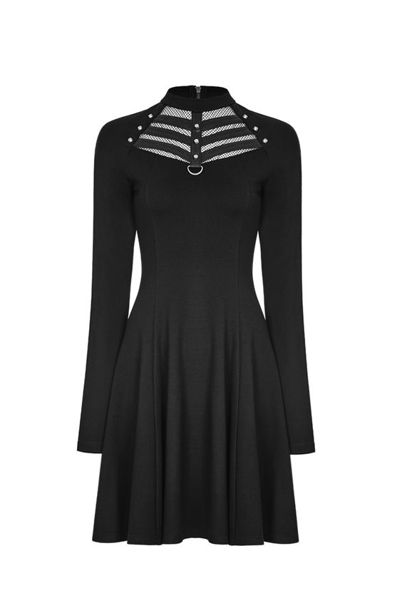 Matrix High Neck Dress by Punk Rave