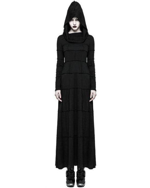 Hooded Block Dress by Punk Rave