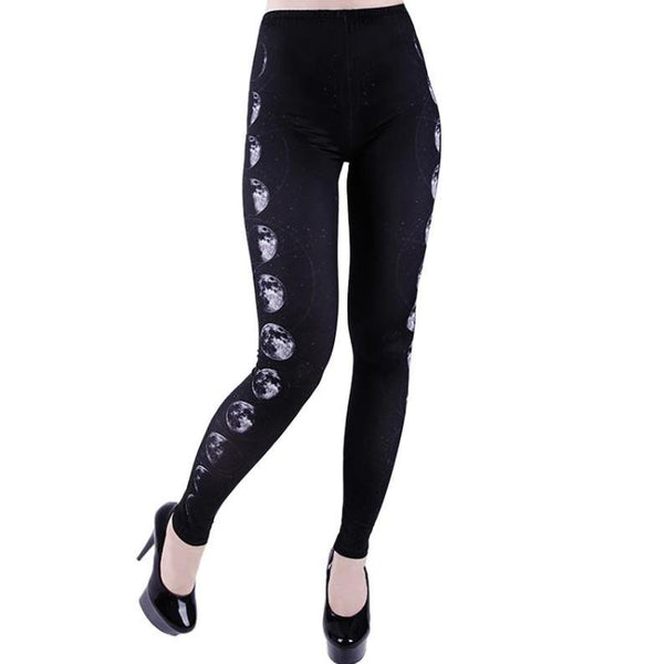 Moon Phases Leggings by Restyle
