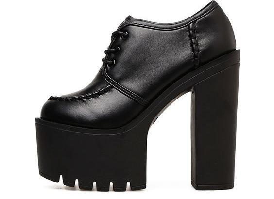 Not So Proper Lace Up Heels