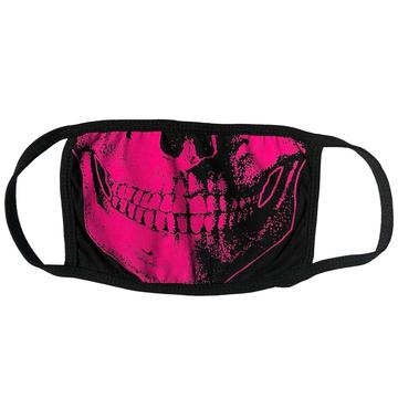 Skull Death Pink Face Mask by Kreepsville 666