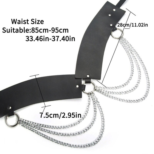 Vampy Chain PU Leather Belt