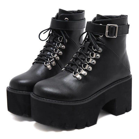 Wrecked Lace Up Boots