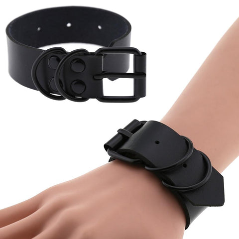 The Blackest Black Faux Leather Bracelet