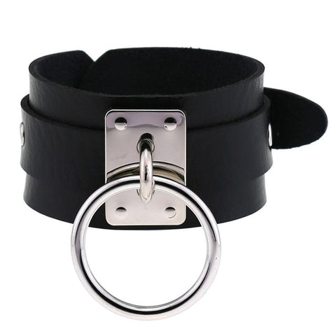 O-Ring Faux Leather Bracelet