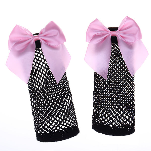 Fishnet Bow Socks (7 colors available)