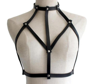 Shield Maiden Faux Leather Harness