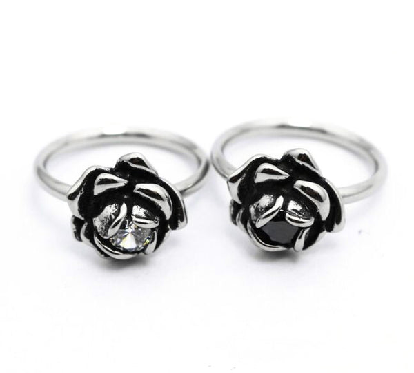 Melancholy Silver Rose Ring