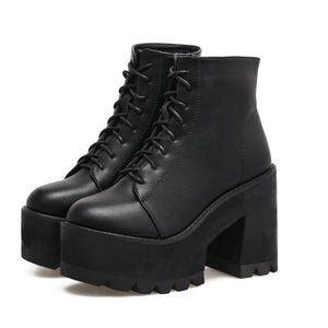 Bad Reputation Lace Up Ankle Boots