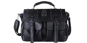Punk Skull Studded Satchel Bag
