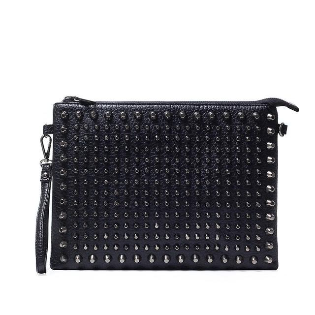 Wasteland Studded Clutch Bag