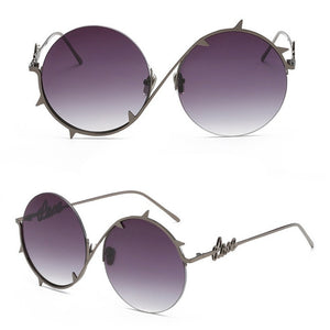 Rose Thorn Round Sunglasses
