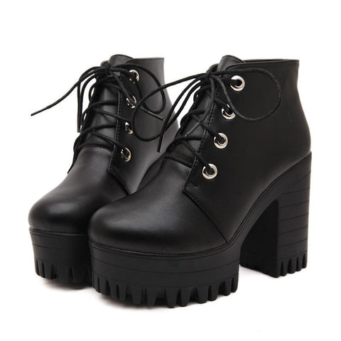 No Boundaries Chunky Heel Boots