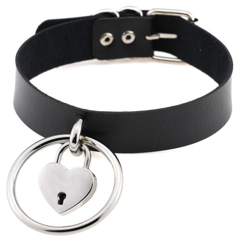 Lock Down Heart Choker
