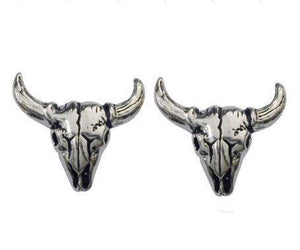 Undead Bison Skull Earrings