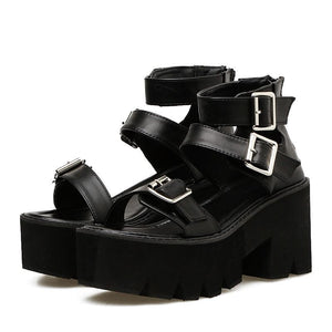 Toxic Waste Chunky Sandals