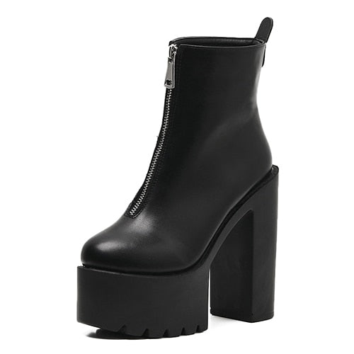 Zip It Up Platform Boots