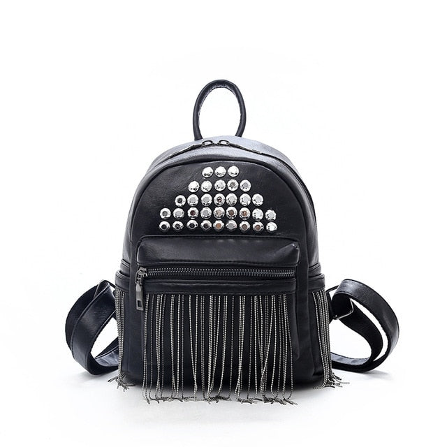 Chain Tassel Mini Backpack