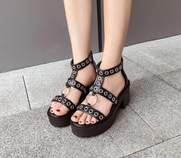 Outcast Eyelets & O-Ring Sandals