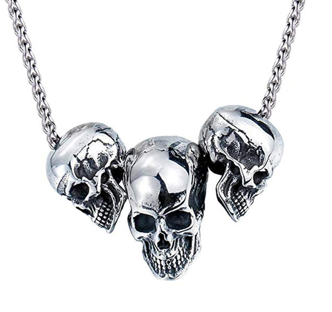 Morbid Skulls Necklace