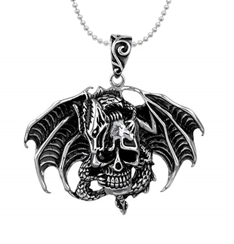 Evil Dragon Skull Necklace