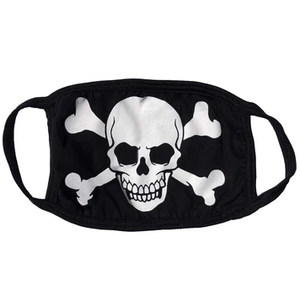 Skull Crossbones Face Mask by Kreepsville 666