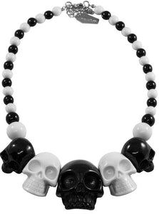 Skull Collection Black/White Necklace by Kreepsville 666