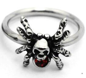 Skull Spider Oddity Ring