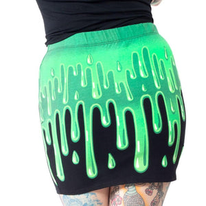 Slime Green Mini Skirt by Kreepsville 666