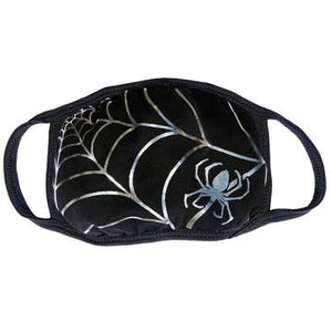 Spiderweb Silver Foil Face Mask by Kreepsville 666