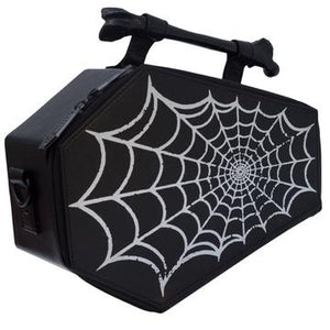 Spiderweb Foil Coffin Bag by Kreepsville 666