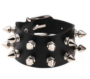 Faux Leather Studded Bracelet