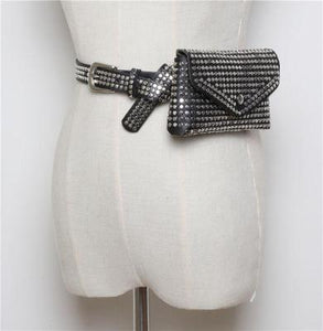 Rivet Studs Purse Belt