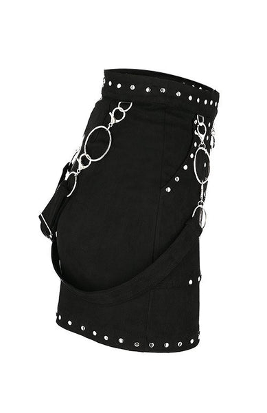 Studded Suede Skirt by Restyle