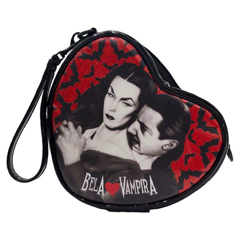 Bela Loves Vampira Mini Heart Purse by Kreepsville 666