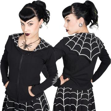 Spiderweb White Bat Flap Jacket by Kreepsville 666