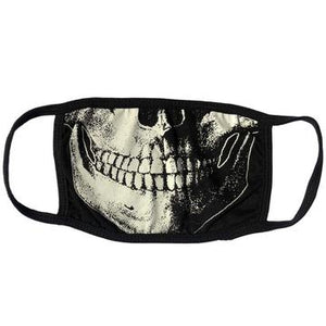 Skull Death White Face Mask by Kreepsville 666