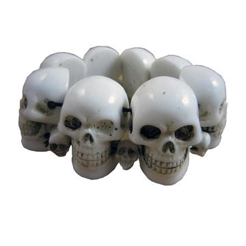 White Skull Collection Bracelet by Kreepsville 666