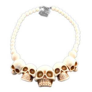 Skull Collection White Necklace by Kreepsville 666