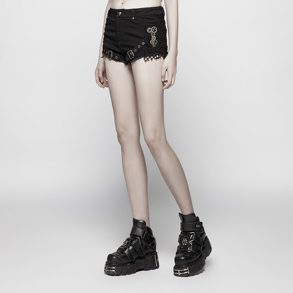 Steampunk Mesh Shorts by Punk Rave