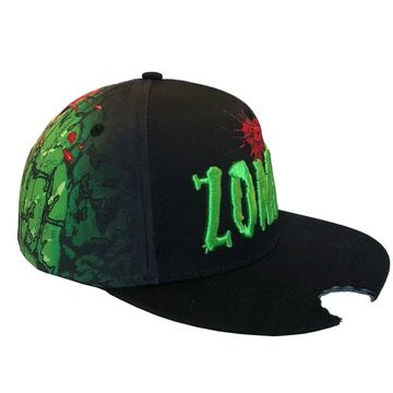 Zombie Bite Sublimation Baseball Hat by Kreepsville 666