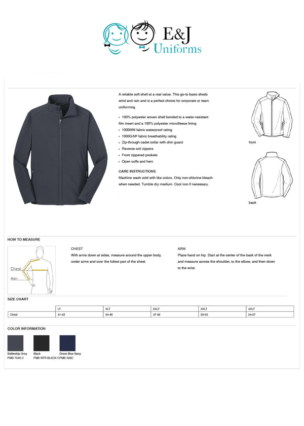 Adults Core Soft Shell Jacket