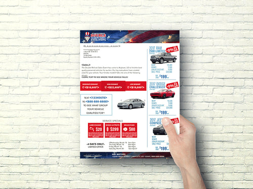 Double Your Refund Tax Season Buyback Letter | Automotive Direct Mail Marketing